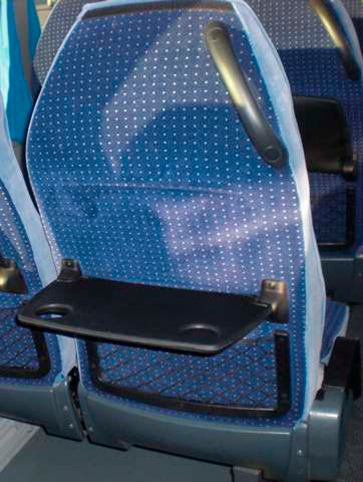 Gómez Bus asientos de bus color azul
